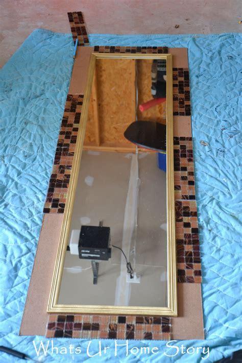 DIY Tile Mirror   DIY Ideas   Mirror tiles, Home decor