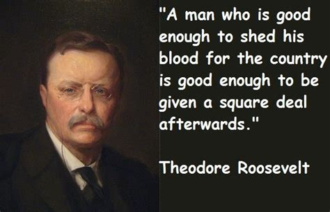 theodore roosevelt quotes president theodore roosevelt square deal for veterans