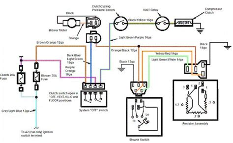 car air conditioning schematic diagram wiring diagram