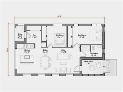house plans of 1000 sq ft 1000 square foot house plans modern