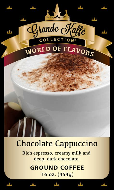 chocolate cappuccino coffee grande kaffe coffee