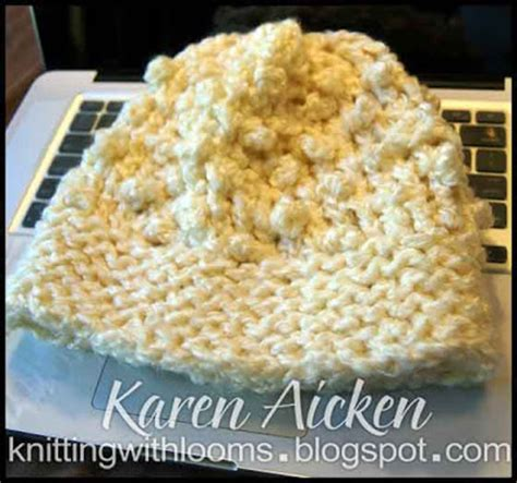Tempat Pop Corn Stitch Pop Corn knitting with looms popcorn stitch hat