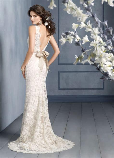 Vintage Lace Wedding Dresses Open Back   Wedding Bells Dresses
