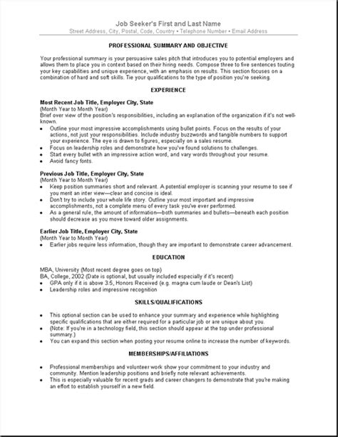 Best Resume Templates For Entry Level by Sample Cv