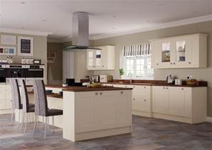 new ivory shaker complete fitted kitchen units brand new