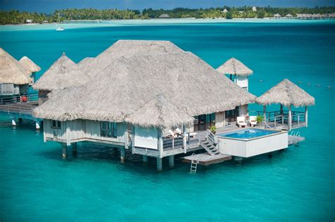 bora bora bungalow resorts water bungalow bora bora st regis hotel hd desktop