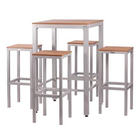 tavolo alto con sgabelli set tavolo alto e 4 sgabelli in alluminio e piani