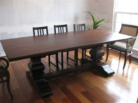 double pedestal dining room tables handmade rustic cherry double pedestal table by shenandoah