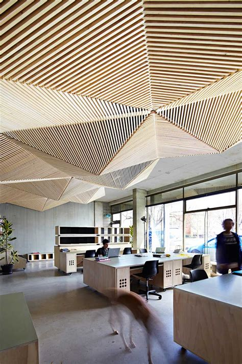 cool ceiling designs assemble melbourne office yellowtrace