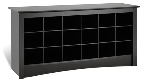 shoe storage cubbie bench prepac shoe storage cubbie bench in black modern
