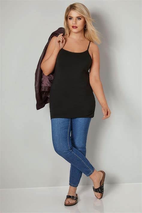 Cp Every Maroon Bhn Katun Stretch Fit L black cami vest top plus size 16 to 36