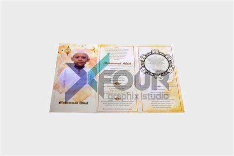 membuat undangan khitanan online undangan khitanan softcover islamic unik cetak online