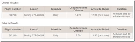 emirates schedule emirates flash sale orlando flights 1 400 to 1600 for