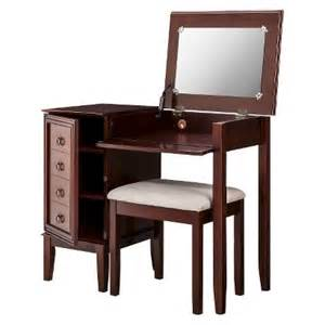 Bedroom Vanity At Target Linon Side Storage Vanity Set Espresso Target