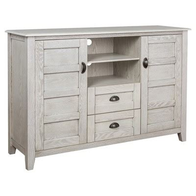 52 quot rustic chic tv console white wash angelo home target