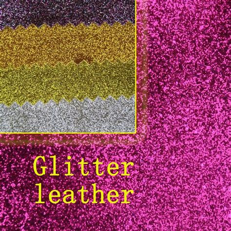leather upholstery fabric for sale hot sale synthetic pvc plain glitter leather fabric for