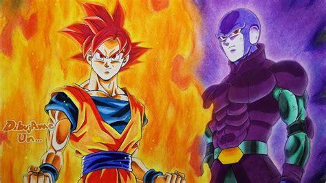 imagenes de goku jiren y hit como dibujar a goku ssj dios y a hit how to draw goku
