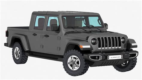 Jeep Models 2020 by 3d Jeep Gladiator 2020 Interior Model Turbosquid 1401310
