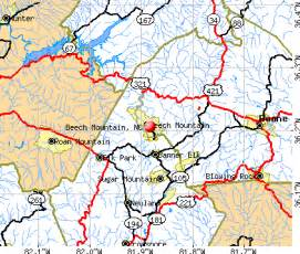 beech mountain carolina map images