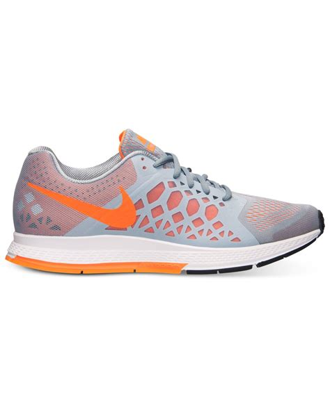 lyst nike s zoom pegasus 31 running sneakers from finish line in orange for