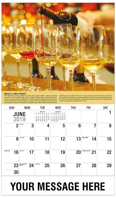 wine storage  serving tips promotional calendar