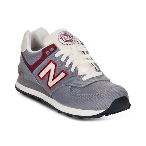 gray new balance sneakers new balance 574 sneakers in gray for grey burgundy