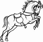 Jumping Horse Outline Clip Art At Clkercom  Vector Online