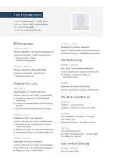 Moderner Lebenslauf Vorlage 2014 Klassisch Gestalteter Lebenslauf F 252 R Die Bewerbung Zum Kostenlosen Lebenslauf