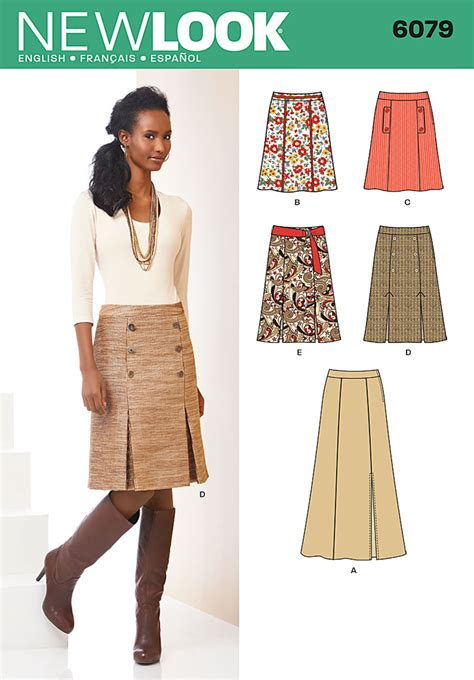 sewing pattern review blog new look 6079 misses skirt in three lengths and belt