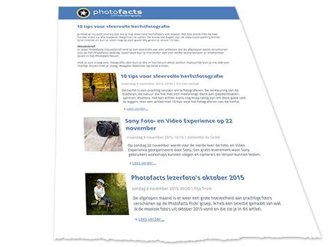 voorbeeld nieuwsbrief photofacts blijf op de hoogte met onze wekelijkse nieuwsbrief