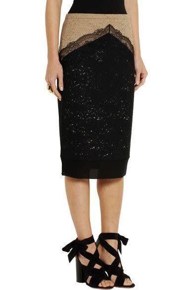 Sale Two Tone List Skirt no 21 two tone lace pencil skirt net a porter