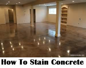 how to stain concrete diy home improvement make your