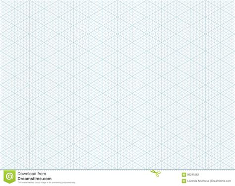 printable area a3 paper isometric grid graph paper background stock vector