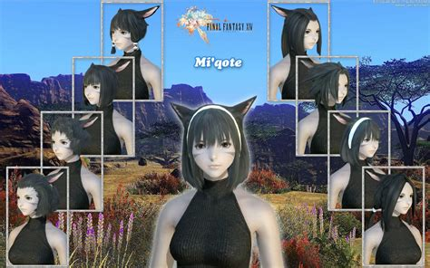 haircut games wallpaper games ffxiv miqote hairstyle wallpaper desktop wallpaper