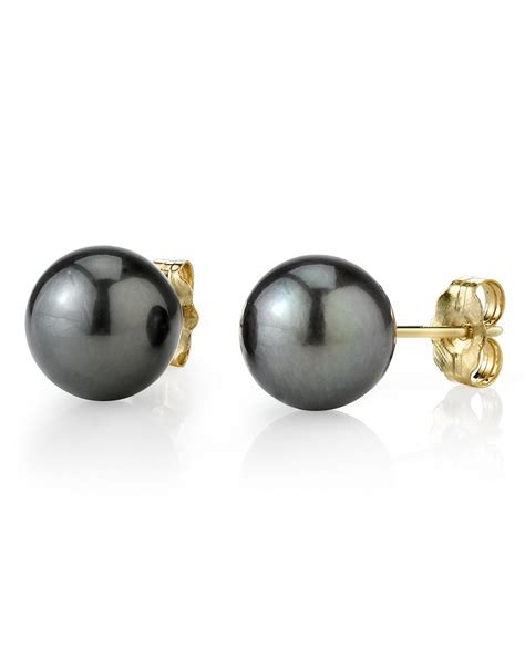 Pearl Earring 9mm tahitian south sea pearl stud earrings various colors