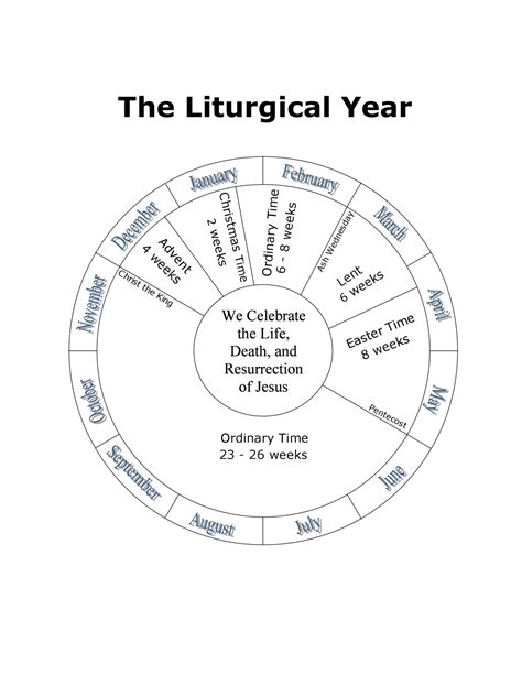 liturgical calendar template best photos of church of the seasons template catholic