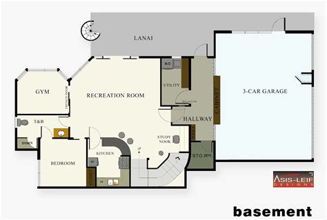 floor plan with basement 20 artistic basement plans layout home building plans 39941