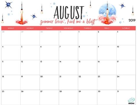 printable calendar  moms