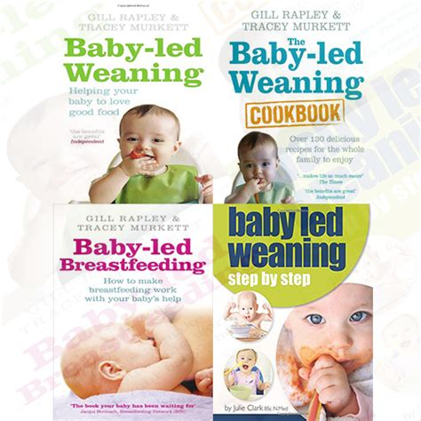 the baby led weaning cookbook 0091935288 baby led weaning collection 4 books set pack helping your baby the baby led pb 0091935288 ebay
