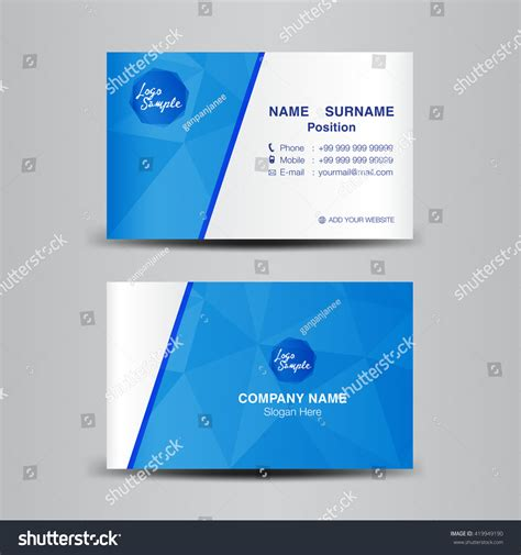 design background name card minimal corporate business card vector backgroundflyer
