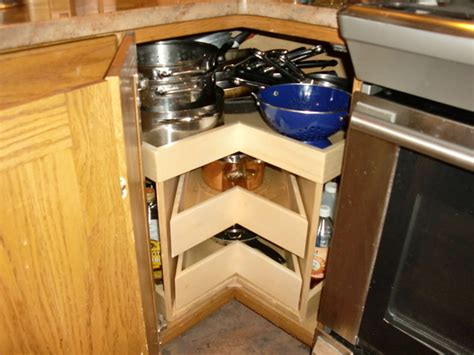 lazy susan organizer for kitchen cabinets corner unit lazy susans glide arounds portland by shelfgenie of portland