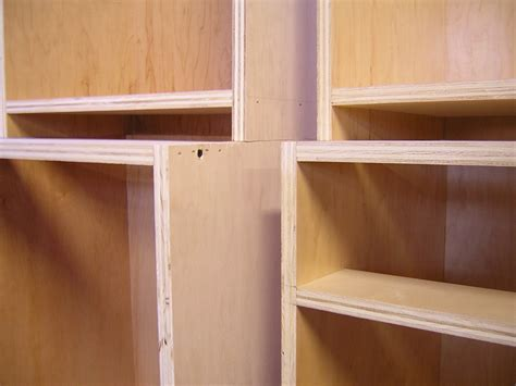 Stainless steel or plywood interior kitchen cabinets