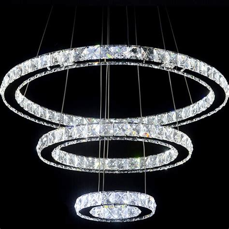 kronleuchter kristall led aliexpress buy 3 rings led chandelier light