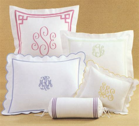 Monogram Bed by Monogram Bed Linens Embroidered Monograms On Shams Cases