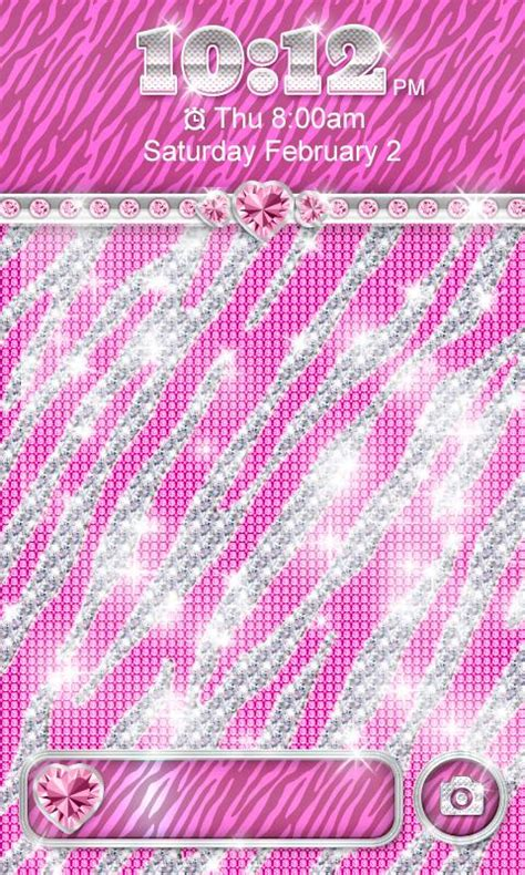 Bling Zebra Pink bling theme pink zebra locker android apps on play