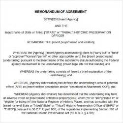 Template For Agreement Between Two Parties Memorandum Of Agreement 9 Free Pdf Doc Download