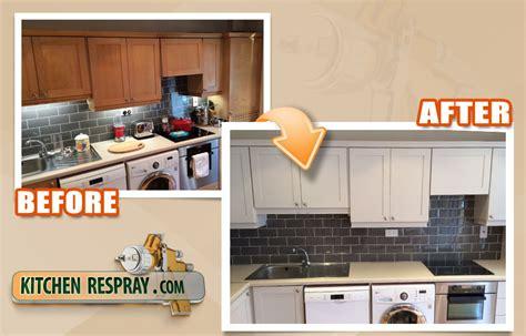 respray kitchen cabinets kitchen respray makeover kitchen respray