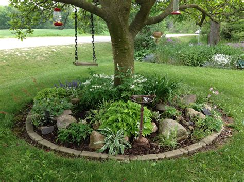 what tree to plant in backyard garden ideas under trees finest rockery around tree with