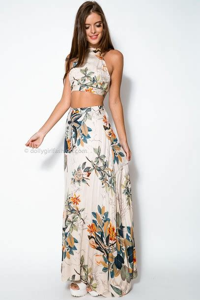 Get The Look Black White Floral Dresses For 100 by Dress Two Dress Set Two Two Maxi