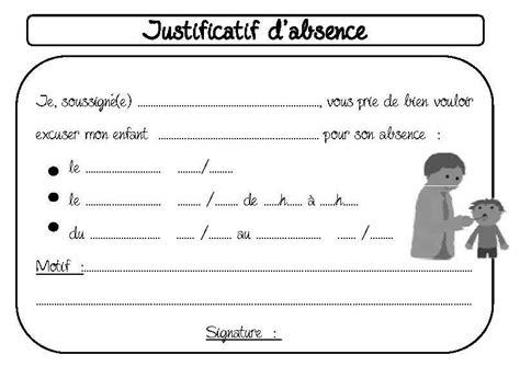 Mod Les De Lettre De Justification D Absence gestion de classe la classe d elsile